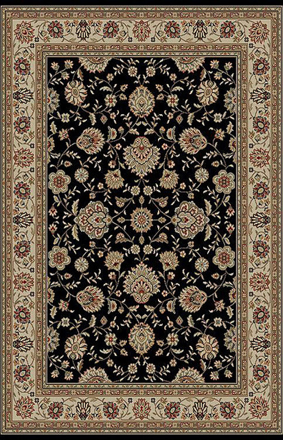 Black Abstract Rug (5' x 7') contemporary-rugs