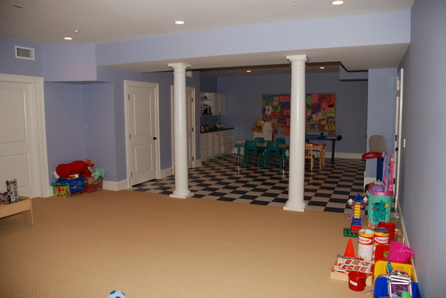 finished basement traditional kids new york by