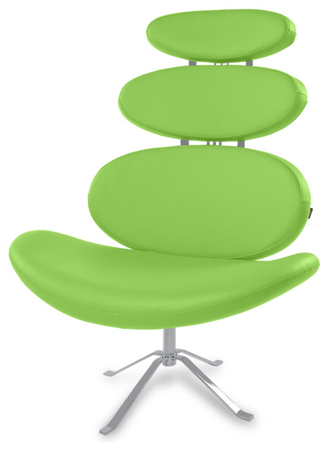 pebble swivel occasional chair lime green contemporary armchairs and accent chairs by. Black Bedroom Furniture Sets. Home Design Ideas