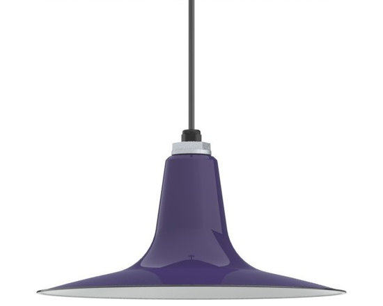 Barn Light Electric - Ivanhoe™ Sterling Deep Cone Reflector Porcelain Cord LED Pendant Light - The modern styling of the Sterling Deep Cone Reflector is now enhanced with the bright white light and energy savings of LED lights! American-made and crafted to last, this porcelain enamel light offers both style and savings!