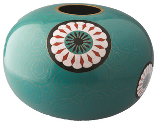 Cloisonné Drum Vase by Piling Palang modern originals and limited editions