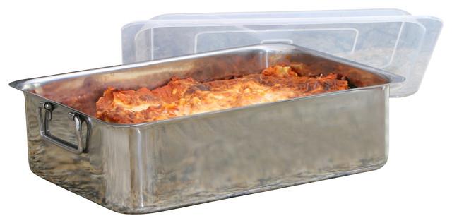 Stainless Steel Roaster Lasagna Pan 4pc Contemporary