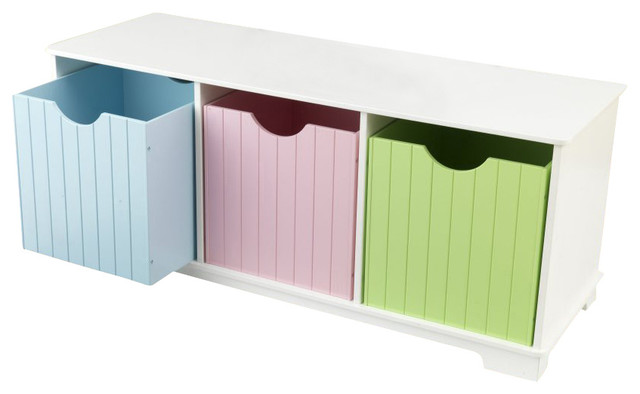 Nantucket Storage Bench In Pastel Kidkraft Furniture 14565 Contemporary Dressers