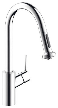 Hansgrohe 14877001 Chrome Talis S Talis S Pull-Down Kitchen Faucet contemporary-kitchen-faucets