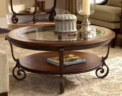 Riverside Fortunado Round Cocktail Table traditional-coffee-tables