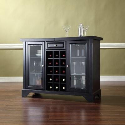 Crosley LaFayette Sliding Top Bar Cabinet modern-furniture