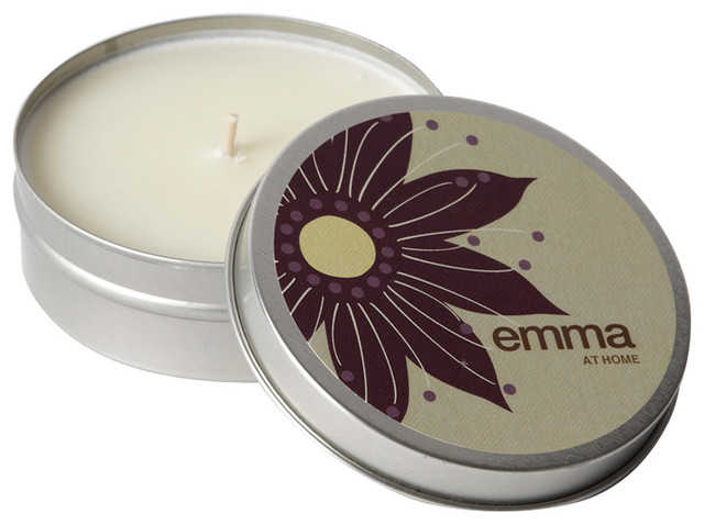 emma at home Oahu Plumeria Scented Compact Soy Candle contemporary-candles-and-candleholders