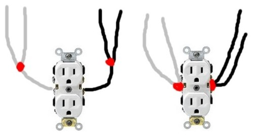how to connect 2 ground wires 1 outlet