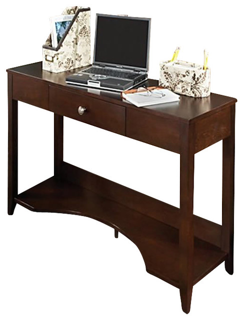 Kathy ireland by bush grand expressions sofa table in warm for Sofa table ireland