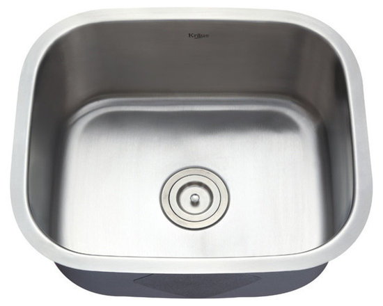 "Kraus - Kraus 20"" Undermount Single Bowl Stainless Steel Sink Combo Set - Add an elegant touch to your kitchen with unique Kraus kitchen combo"