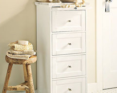 Marble-Top Sundry Tower traditional bathroom storage