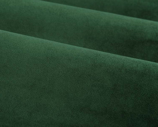 Princess Upholstery Fabric in Pine - This pine green upholstery fabric has a suede and velvet-like pile that creates a decadent feel that's not easily forgotten. Super durable, yet soft and luxurious, this fabric is perfect for high traffic areas. Available in a multitude of colors, this fabric is a great solid to use as the basis for any design. Ideal for reupholstering chairs, sofas, ottoman, and more, or for creating custom bedding and pillows. Made from 100% polyester. Fire Rating: UFAC Class 1. 100,000 double rubs. Width: 54″