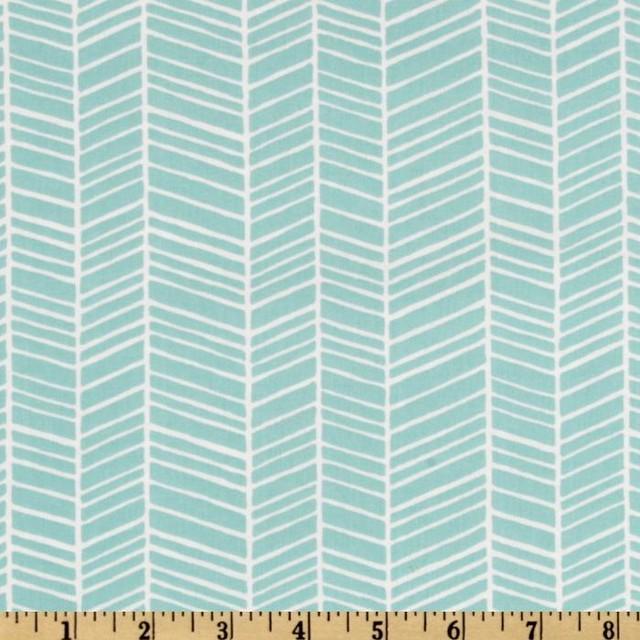Modern Meadow Herringbone, Pond - Modern - Upholstery Fabric - by ...