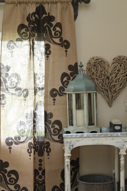 Couture Dreams Enchantique Jute Natural Window Panel  curtains