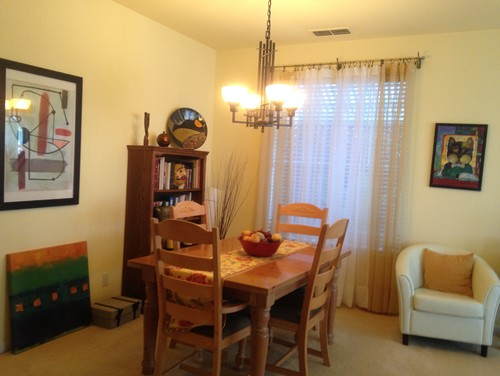Husband wants partition between living amp dining room  good idea