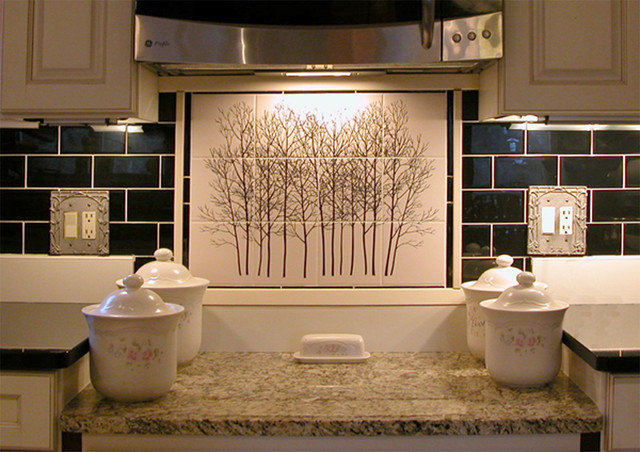 kitchen back splash tile mural by designers choice tile rustic kitchen