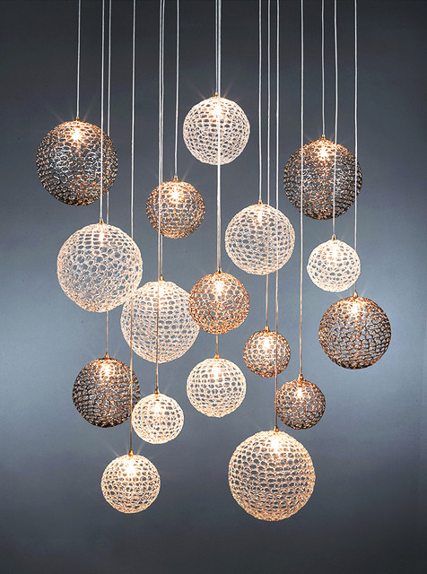 Mod chandelier modern chandeliers new york by shak ff for Cool light fixtures modern