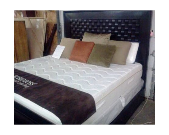 Bedroom Furniture - EJ Victor woven wood headboard~One in dark wood and one in white wood.
