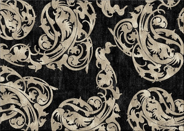 Damask Custom Rug Designs Contemporary Rugs Other
