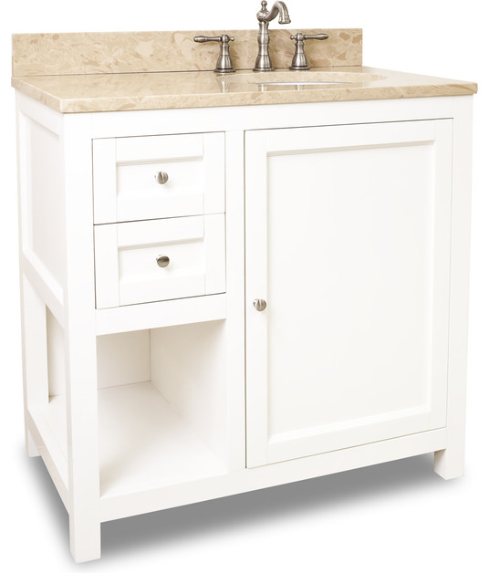 Lyn Design VAN091 36 T Light Marble Top Transitional Bathroom Vanities A