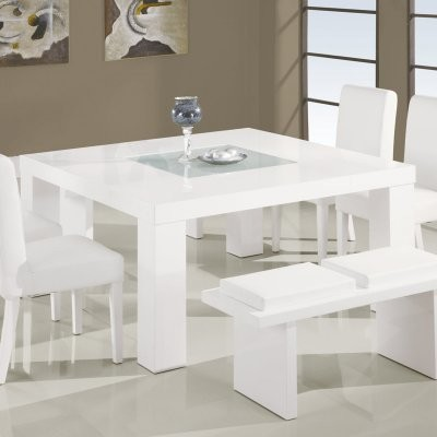 Global Furniture Canna White Wood Dining Table modern-dining-tables
