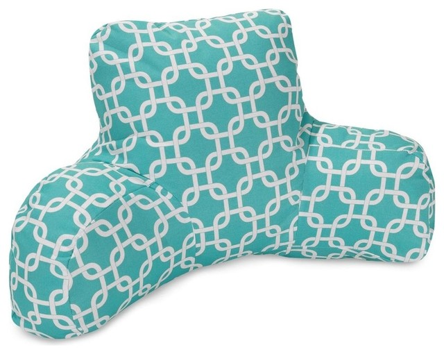 Decorative Reading Pillow : Teal Links Reading Pillow - Midcentury - Decorative Pillows - by Majestic Home Goods