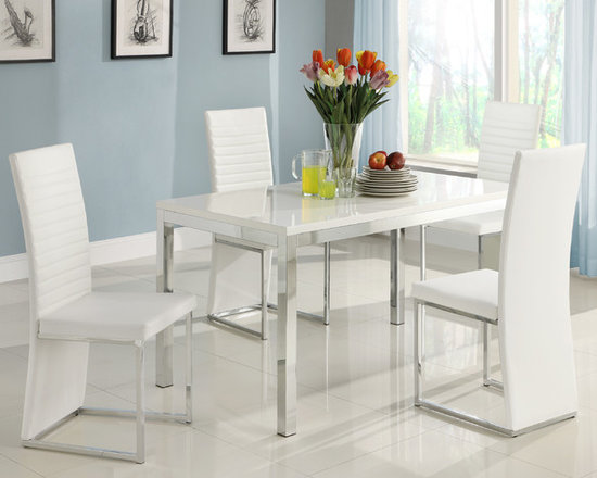 Kitchen Furniture - Clarice White Dining Table by Home Elegance