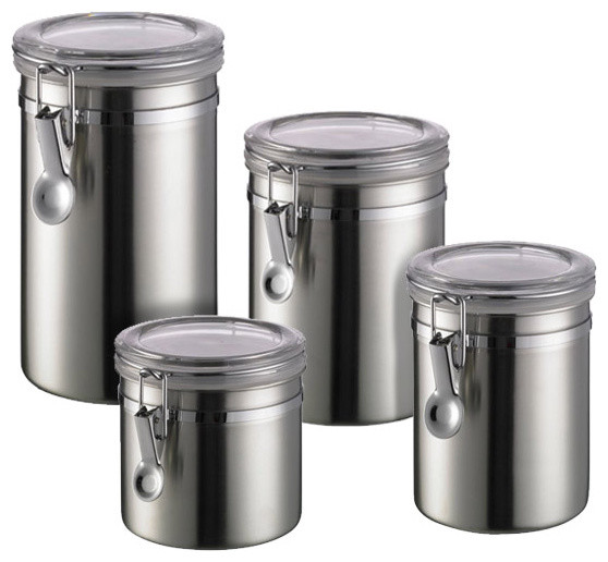 Stainless Steel Storage Containers Camlab Uk Brushed Stainless Steel  Canisters Contemporary Kitchen28 Stainless Steel Storage Containers  Stainless Steel