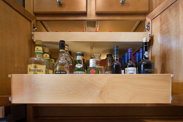 Pull Out Shelves for Your Wet Bar - Kitchen Drawer ...
