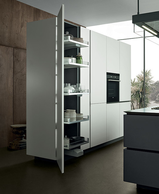 Artex tall unit modern kitchen cabinetry other metro for Tall kitchen drawer unit