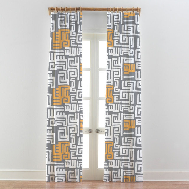 Modern curtains for living room - Tribal African Curtains Drapes Kuba Cloth Modern Curtains