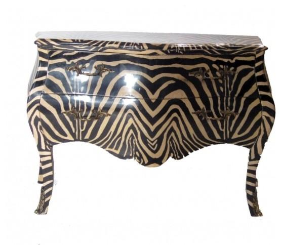 Zebra Louis XIV Chest
