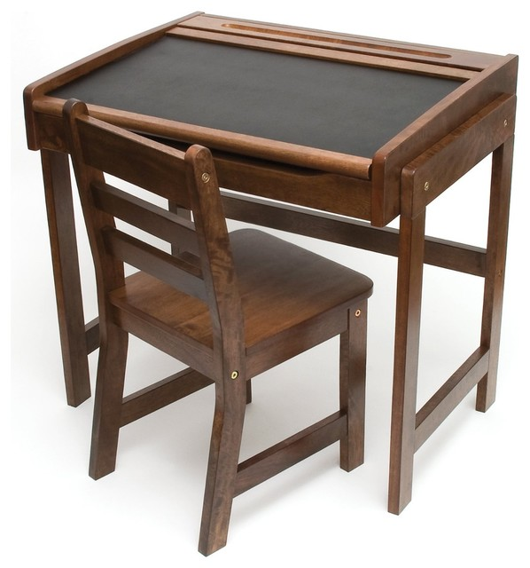 Lipper International Childs Desk With Chalkboard Top And