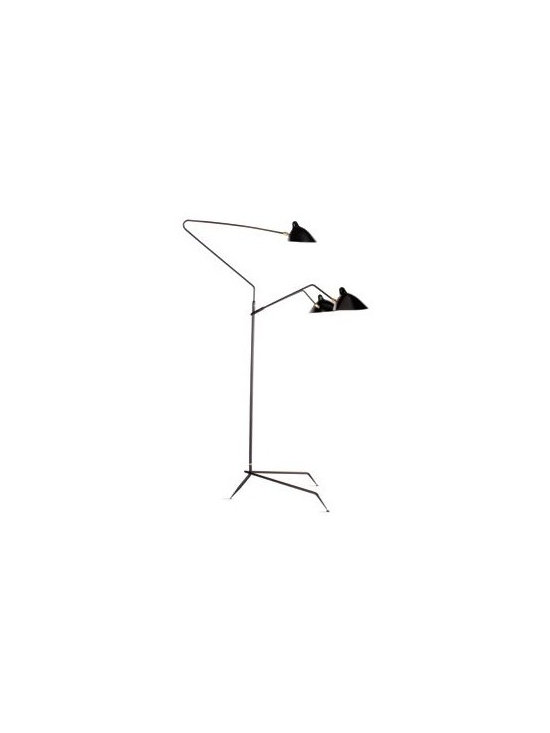 Serge Mouille - Floor Lamp 3 Arms, None - Design Within Reach -