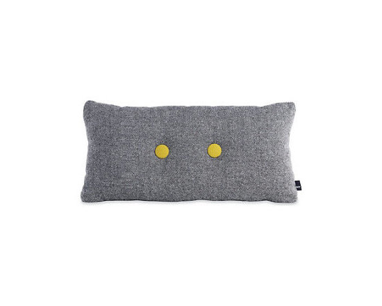 Dot 2x2 Pillow Designed by Hay - This modern pillow adds two dashes of cheer in the form of brightly colored buttons.