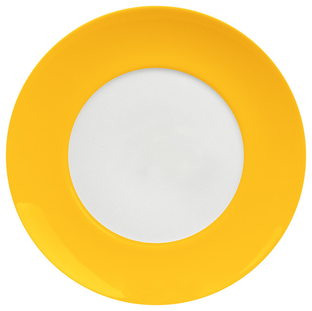 Uno Set of 4 Salad Plates Curry modern-dinner-plates