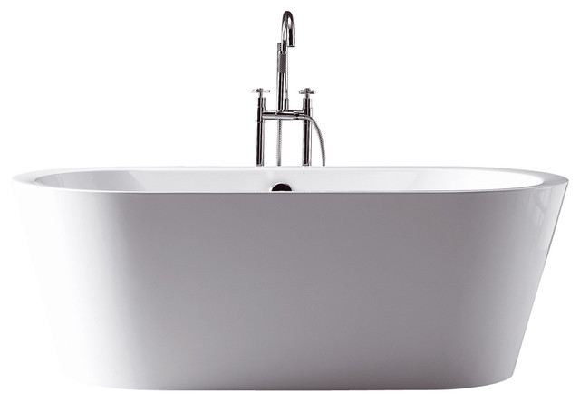 ... Freestanding Soaking Tub w/ Center Drain - Transitional - Bathtubs