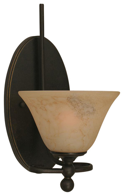 Contemporary Italian Wall Sconces : 7 in. Italian Marble Glass Wall Sconce - Contemporary - Wall Sconces - by ShopLadder