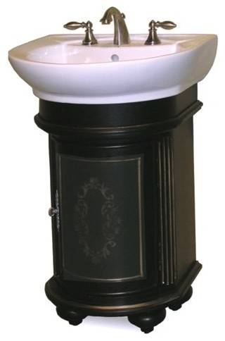 kaco arlington 24 in round single bathroom vanity in