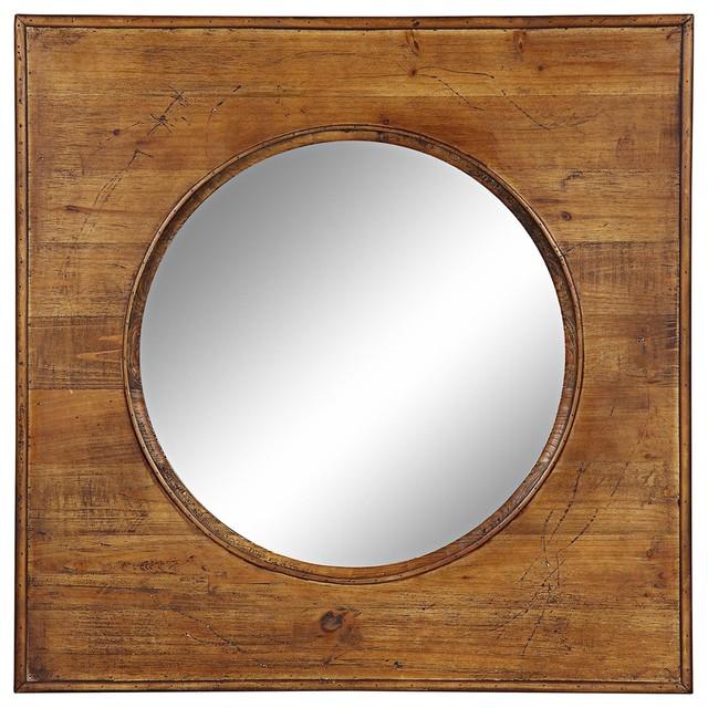 "Country - Cottage Cooper Classics Thorton 29 1/2"" Square Wall Mirror farmhouse-wall-mirrors"