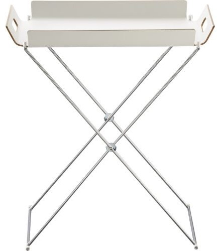 Formosa White Tray Table modern-side-tables-and-end-tables
