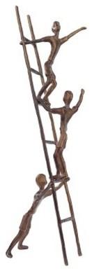 Design Toscano 26.5 in. A Step in Time Cast Metal Child Statue modern-garden-sculptures