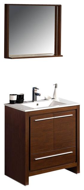 Fresca allier 30 modern bathroom vanity wenge modern for Decorplanet bathroom vanities