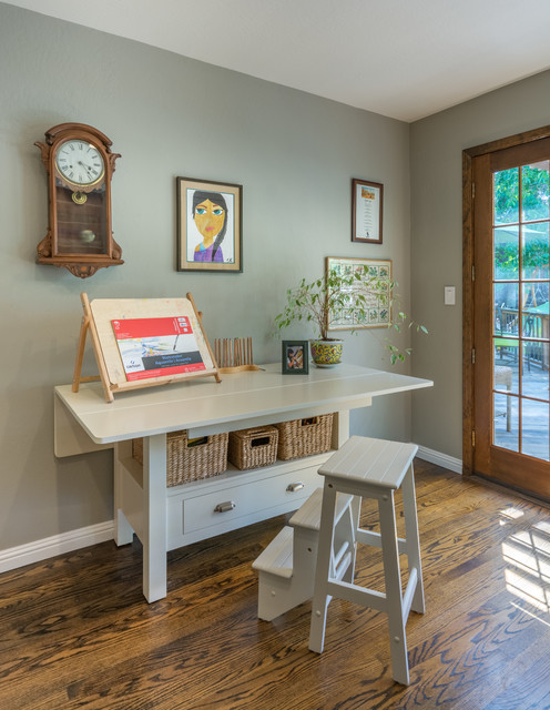 Craft room and dining room reimagined spaces eclectic for Eclectic crafts room