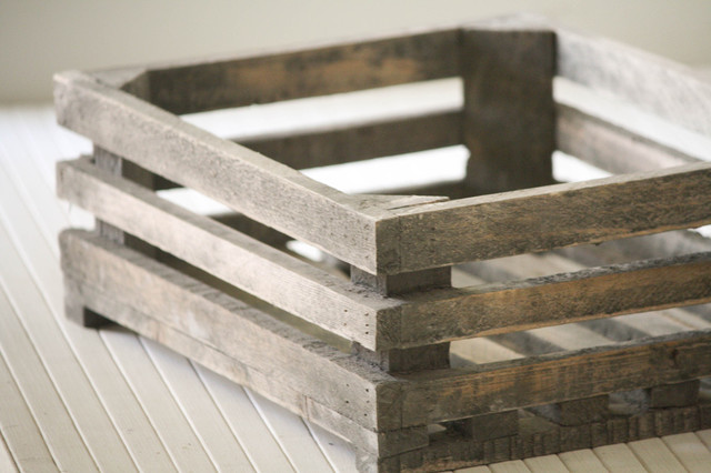 Small Wood Crate traditional-storage-and-organization
