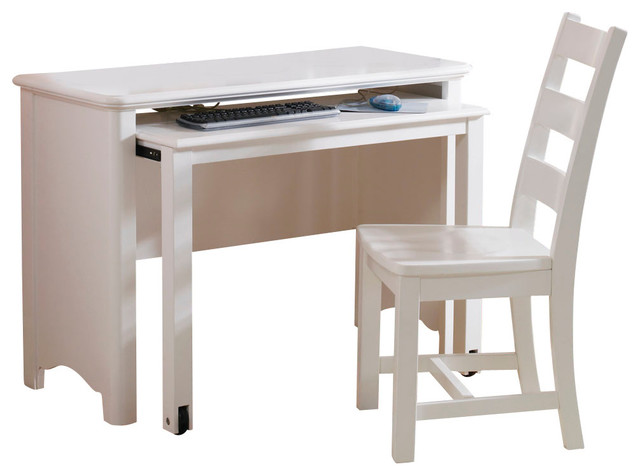 Lea Haley Drawer Desk with Chair in White traditional-baby-and-kids
