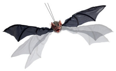 Animated flying halloween bat halloween decorations and for Animated flying bat decoration
