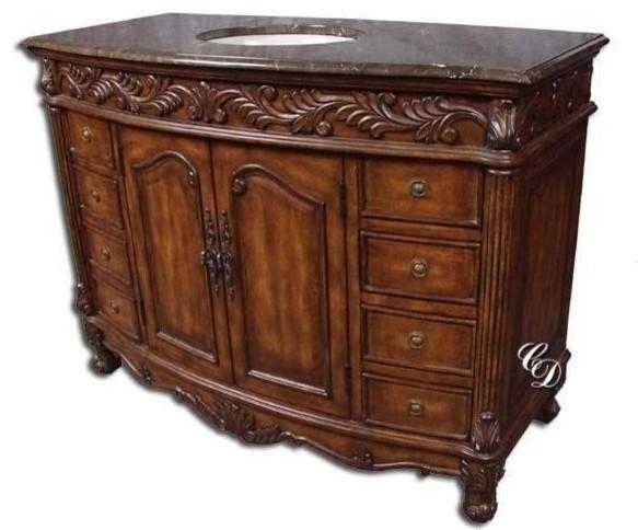 New Single Sink Vanity Brown/Beige/Tan traditional-bathroom-vanities-and-sink-consoles