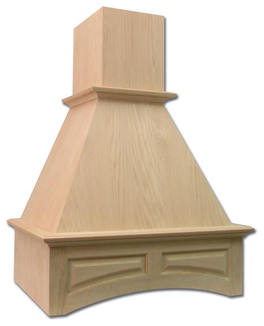 Window Next To Chimney Hood ~ Roman valance chimney hood