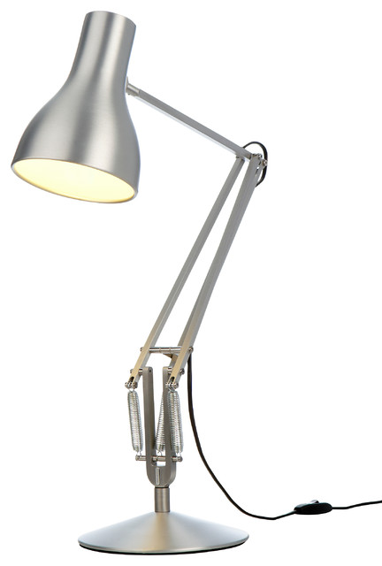 Type 75 table lamp in brushed aluminum modern table Types of table lamps